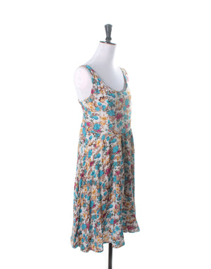 Vintage Floral Yellow Blue Babydoll Dress