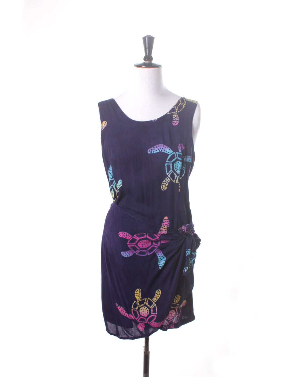 Vintage 90's Pineapple Moon Turtle Wrap Dress