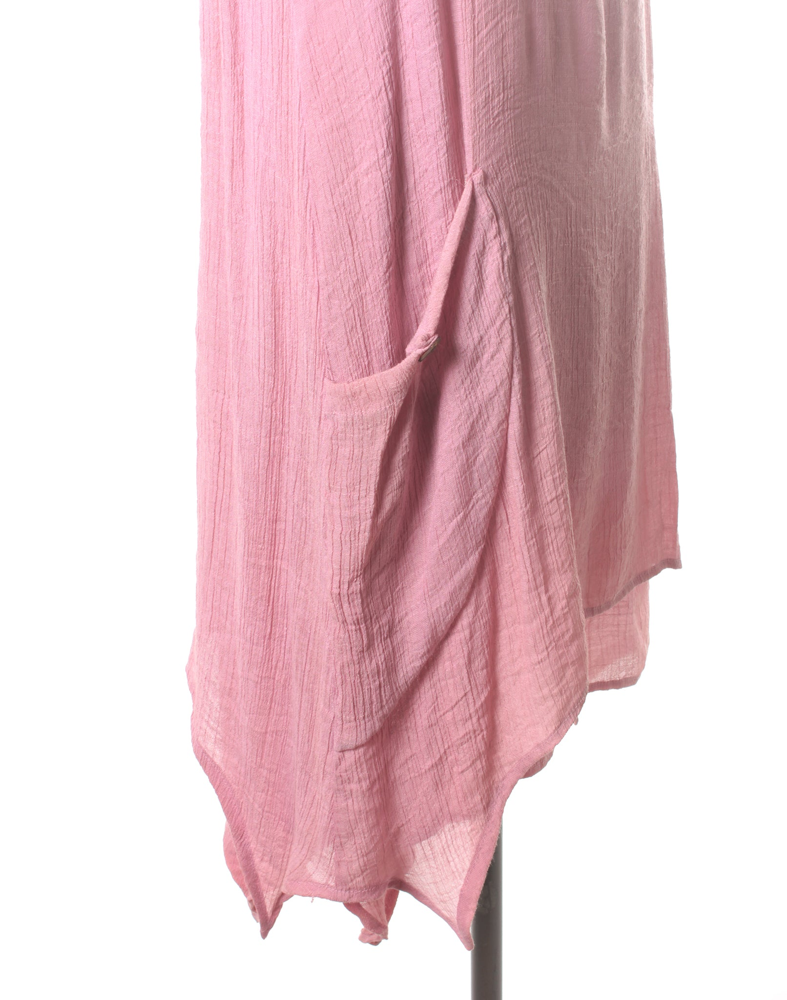 Vintage 90's Pink Silk Slip Dress with Pockets
