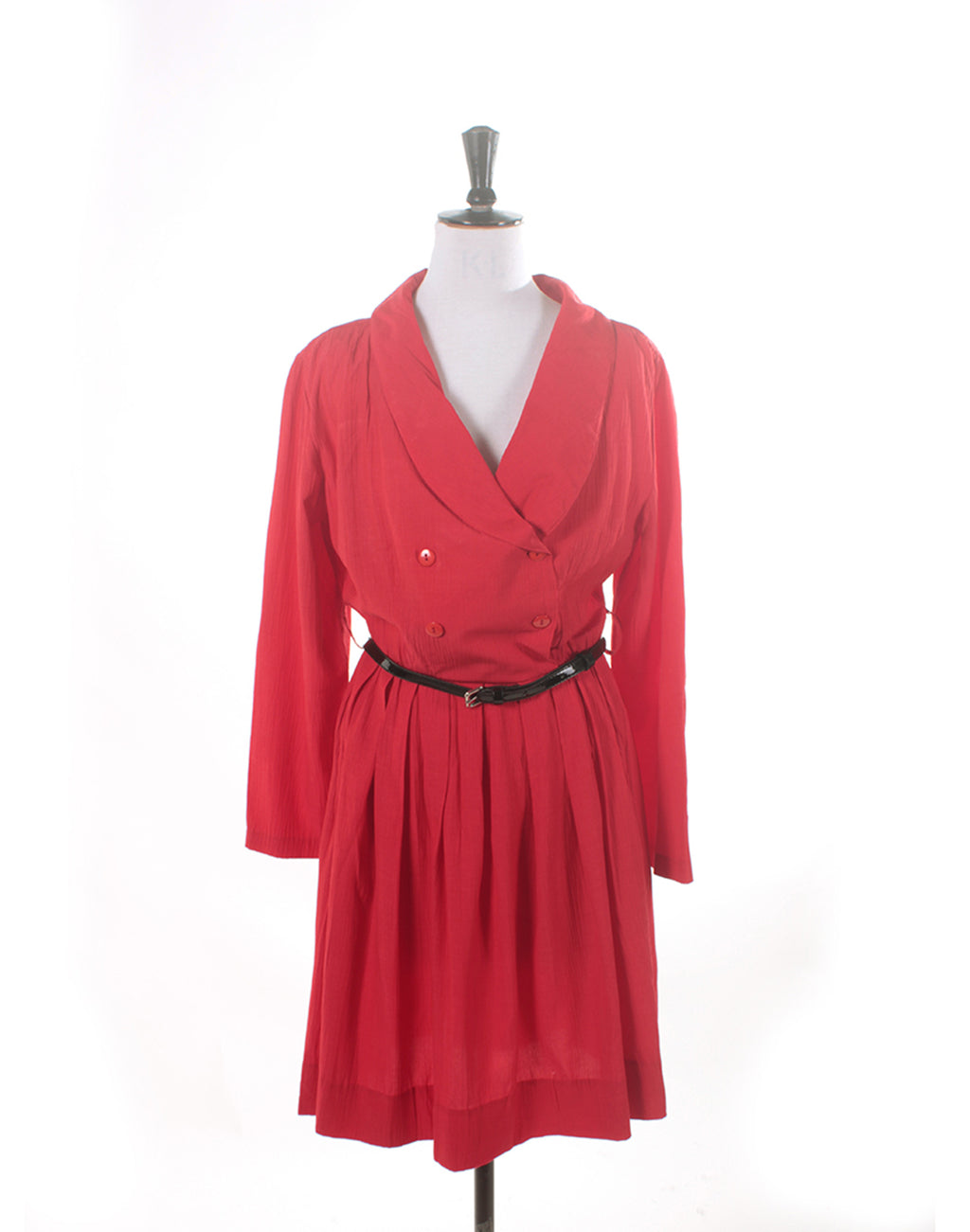 Vintage 80's Red Table Eight Long Sleeve Dress