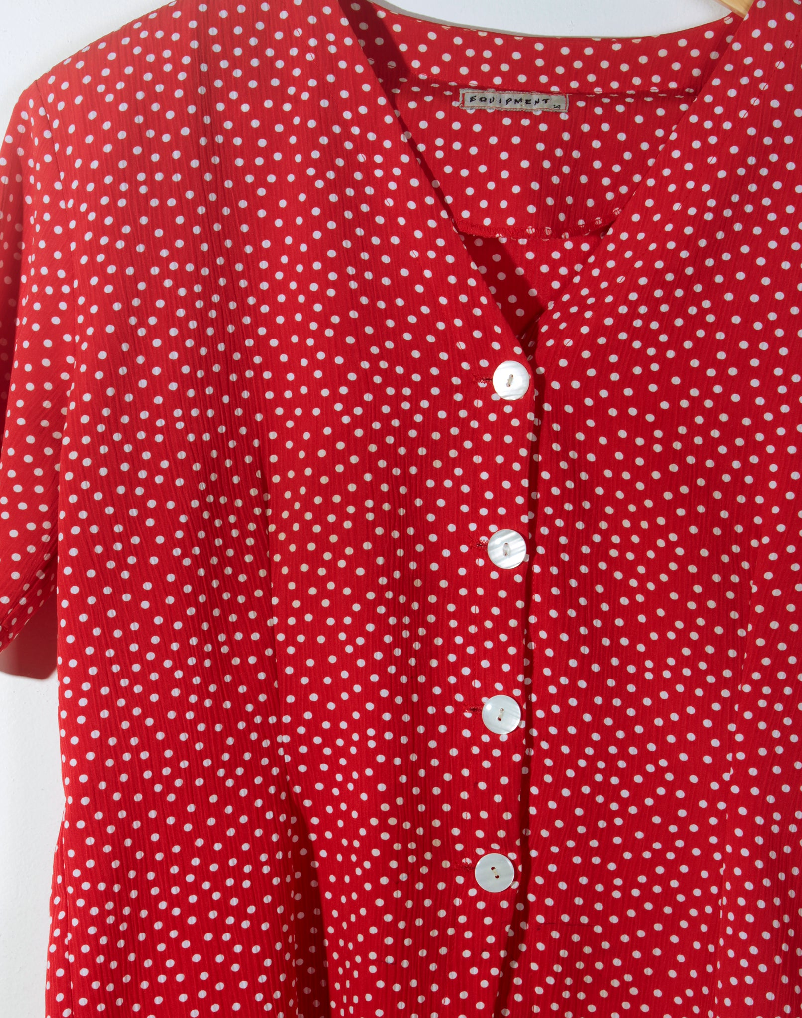 Vintage 80's Red Polka Dot Blouse