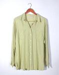Pale Green Oversize Linen Shirt