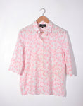 Vintage 80's Fletcher Jones Liberty Pink Floral Shirt