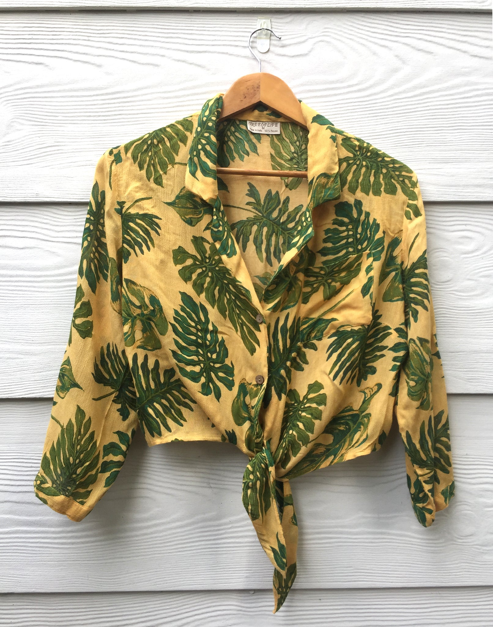 Tree Of Life Cheese Plant Crop Top