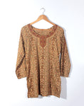 Vintage 90's Mustard Floral Indian Tunic Top