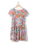 Vintage 80's Bright Floral & Daisy Dress