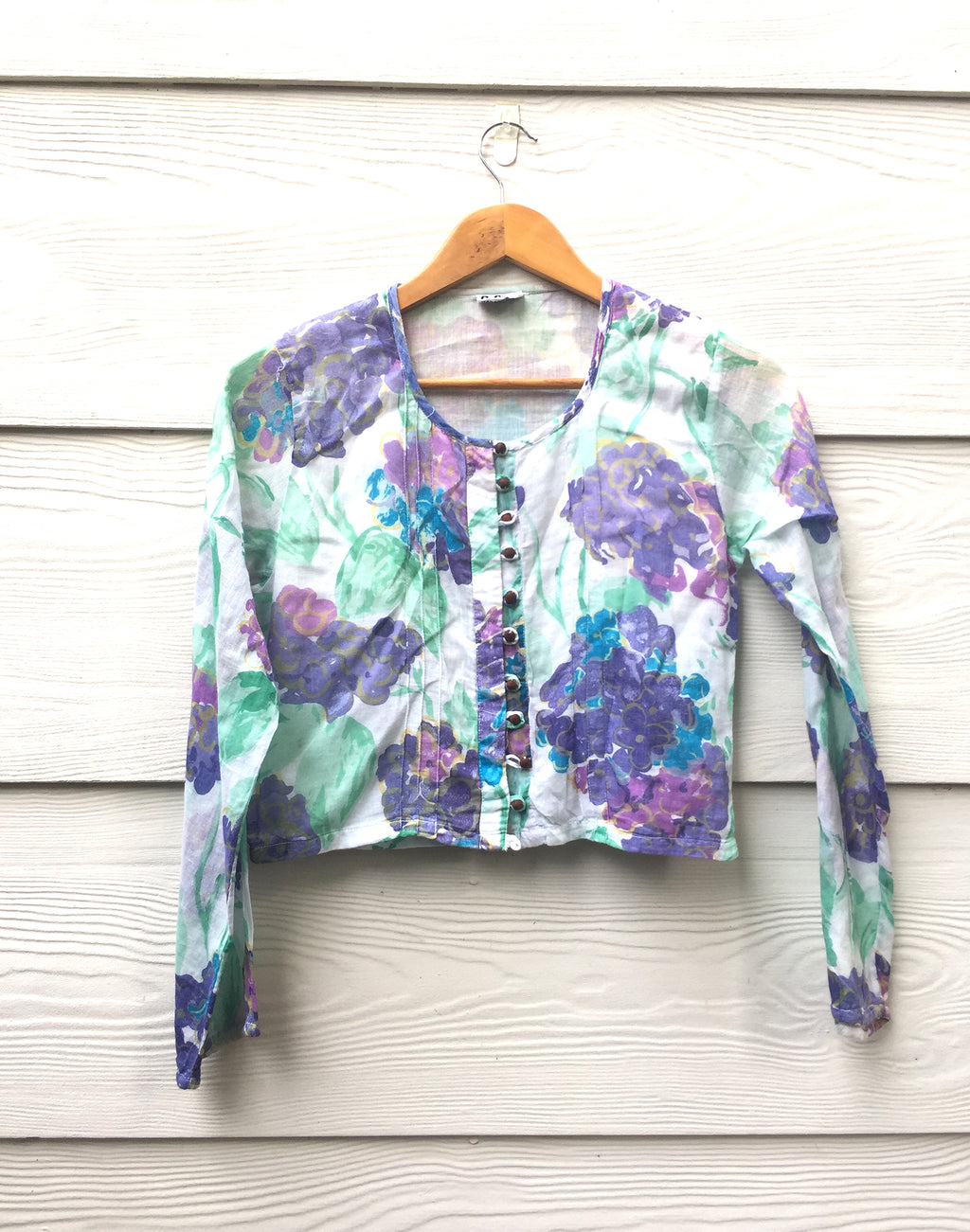 Vintage 90's Purple Floral Crop Top