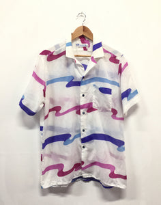 Vintage 70's Retro Squiggle Mens Shirt