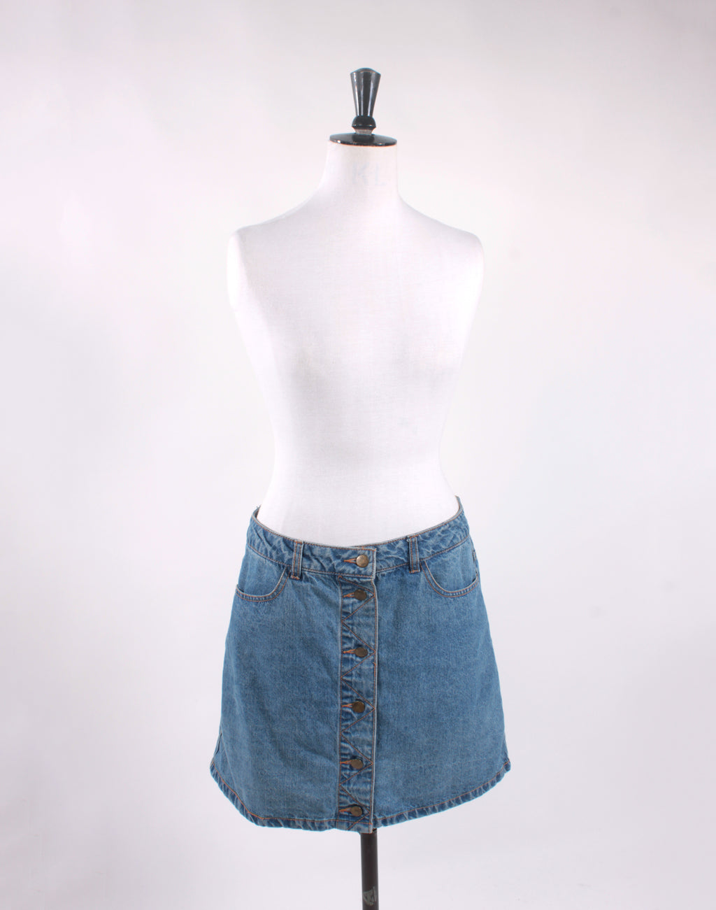 Jay Jays Denim Button Mini Skirt - Size 12