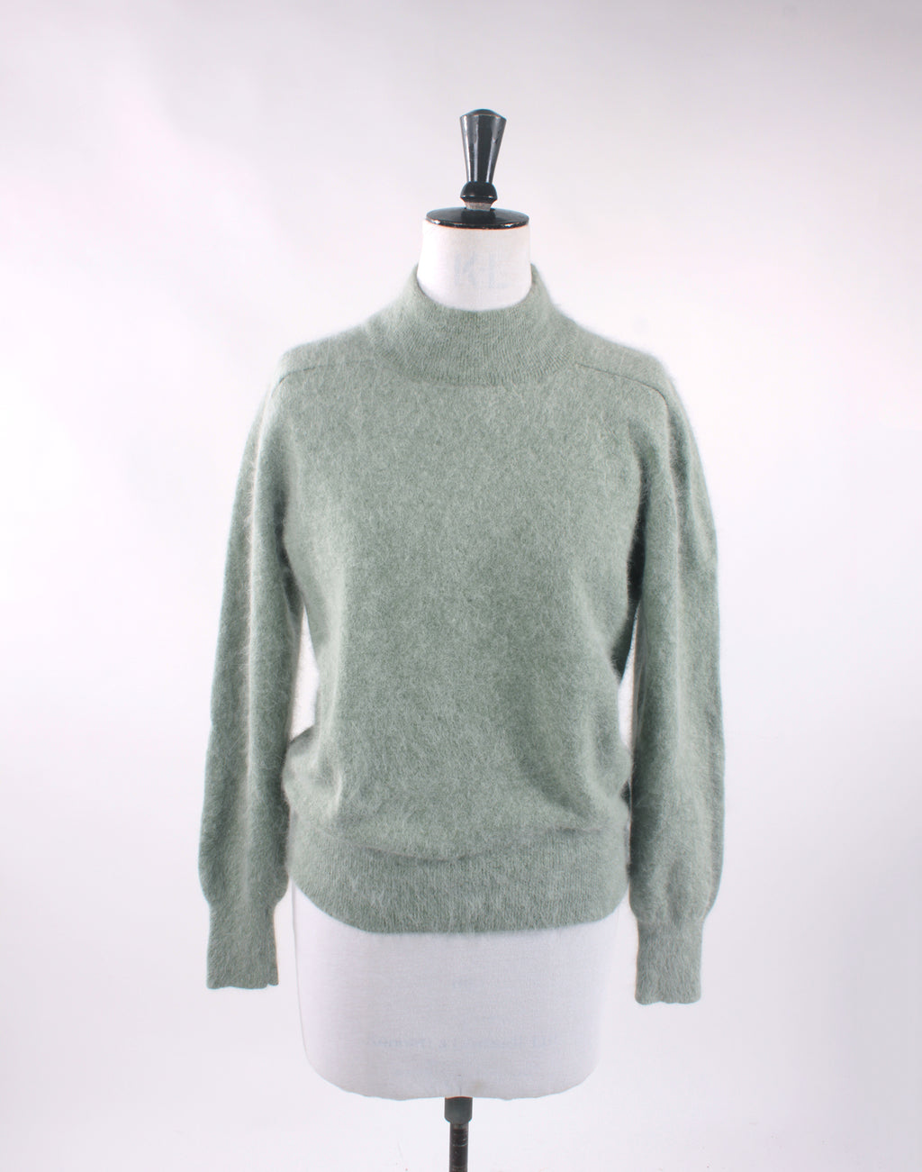 Vintage 60's David Jones Soft Green Grey Angora Lambswool Sweater
