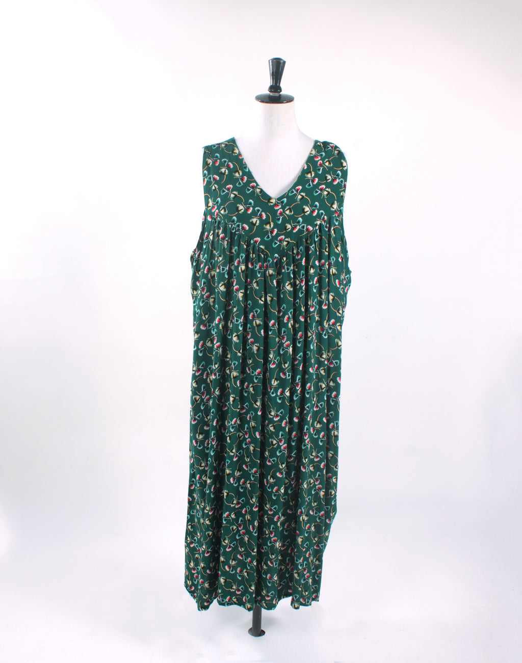 Vintage 90's Green Floral MuMu Dress