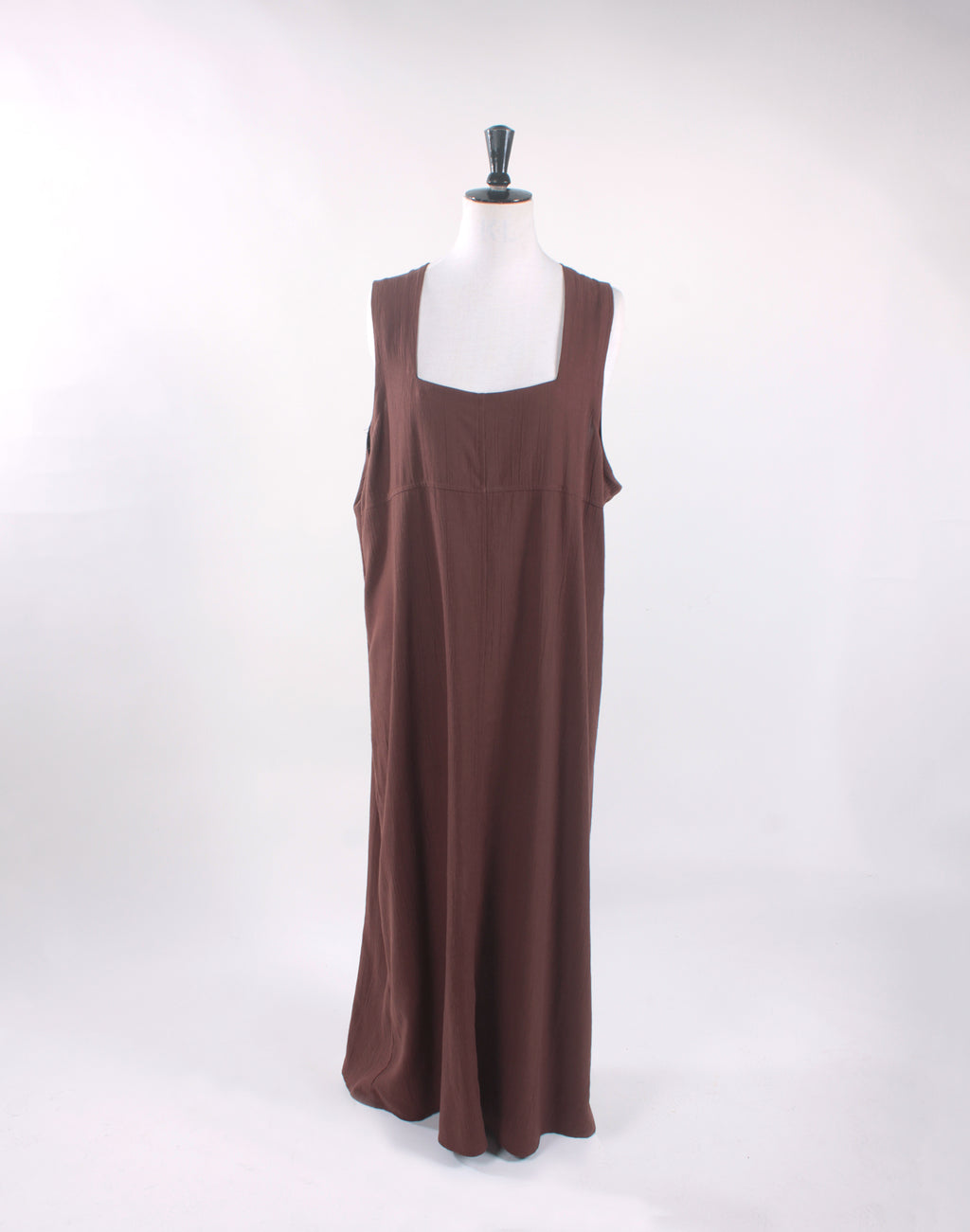 KV Remade Brown Maxi Pinafore Dress