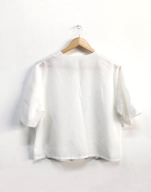 Vintage 80's Miss Prim White Button Blouse