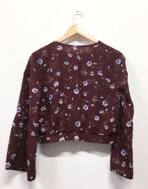 Maroon Floral Long Sleeve