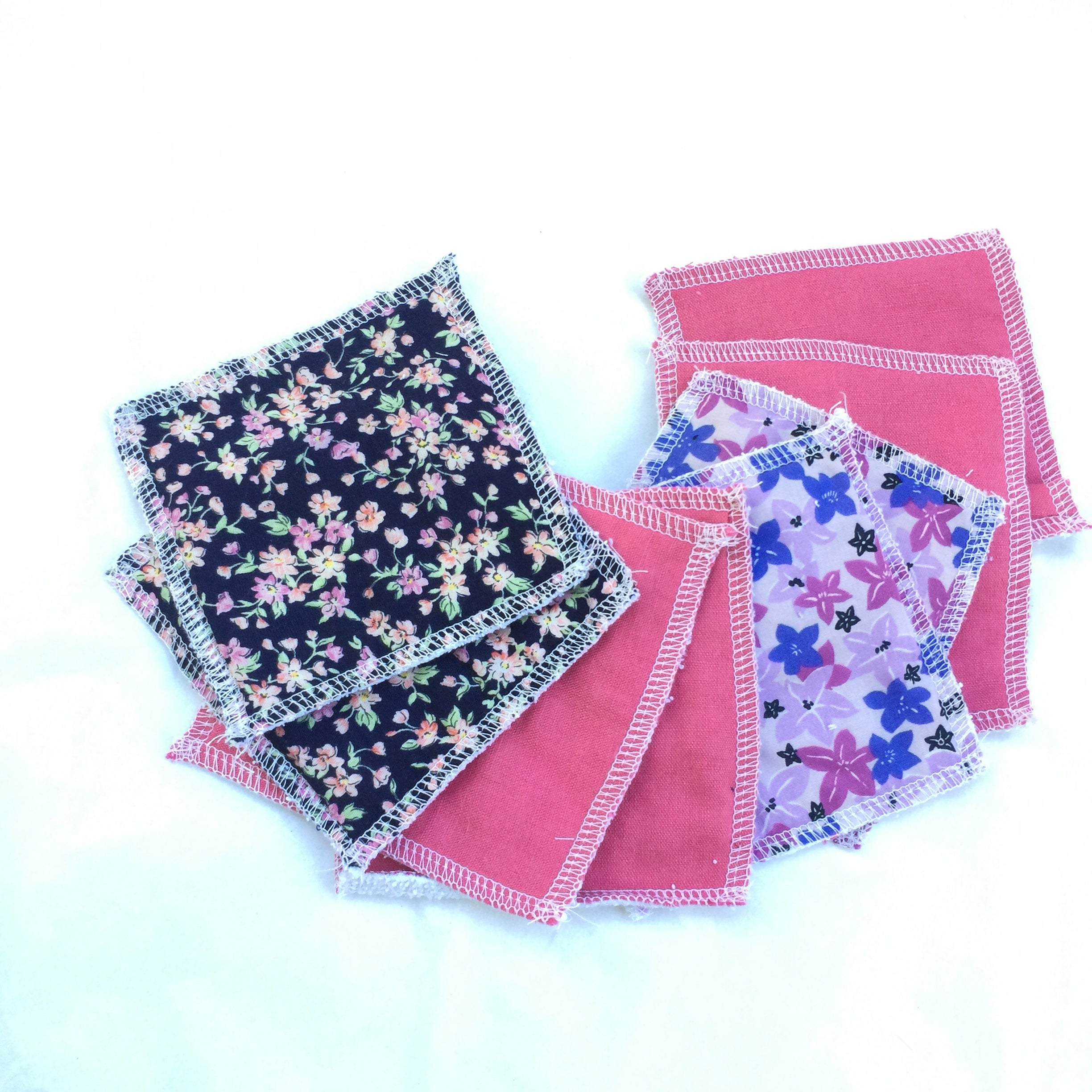 Pink Mix Fabric Face Washers