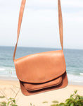 Tan Raw Leather Bag