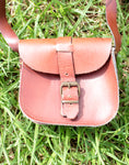 Small Dark Brown Leather Bag