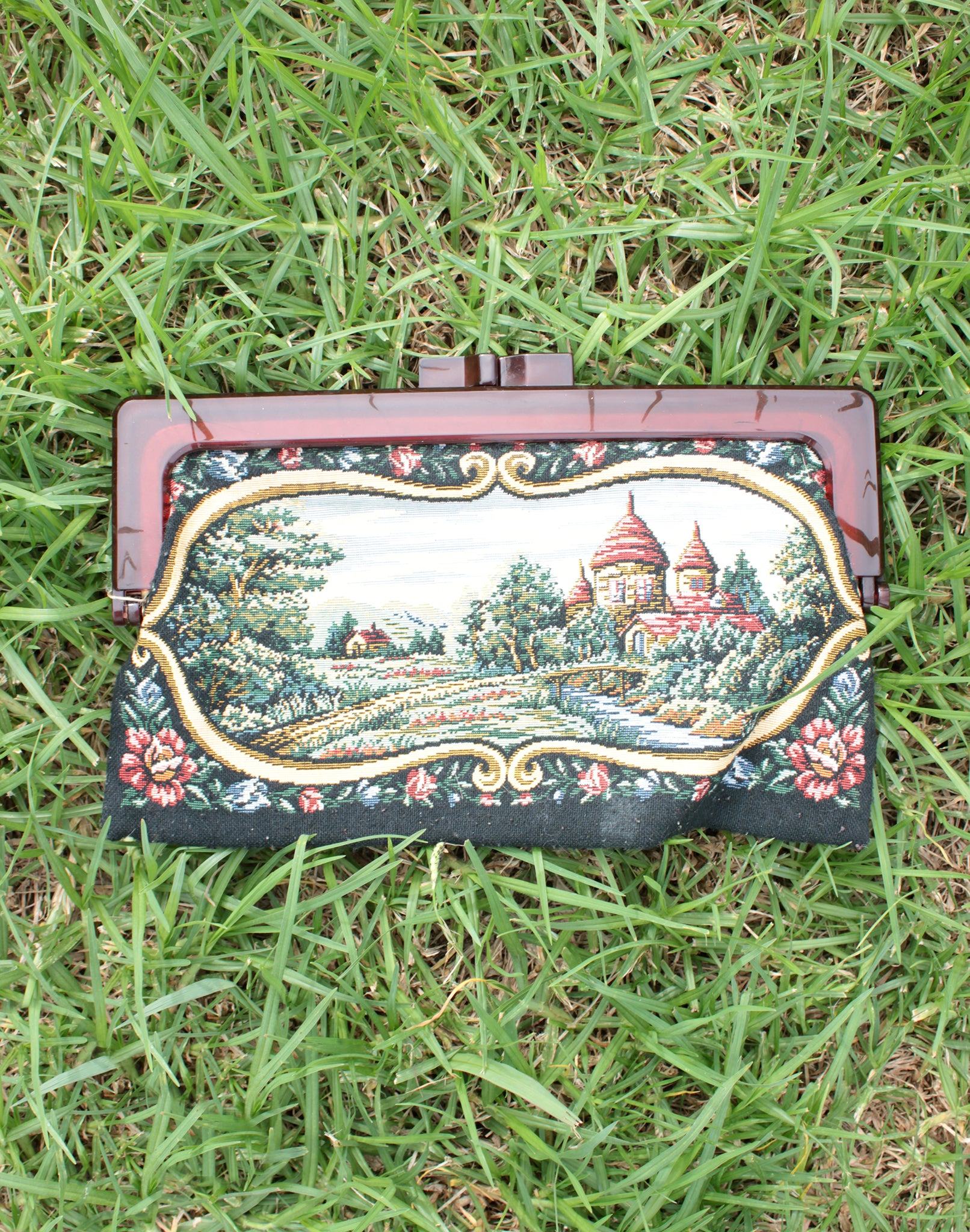Tapestry Clutch Purse