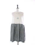 Nautical Cotton Vest & Tartan Collector Dress - Size M