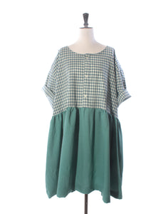 Teal Cotton & Wool Mix Collector Dress - Size XXXL