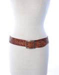 Tan Tooled Leather Belt