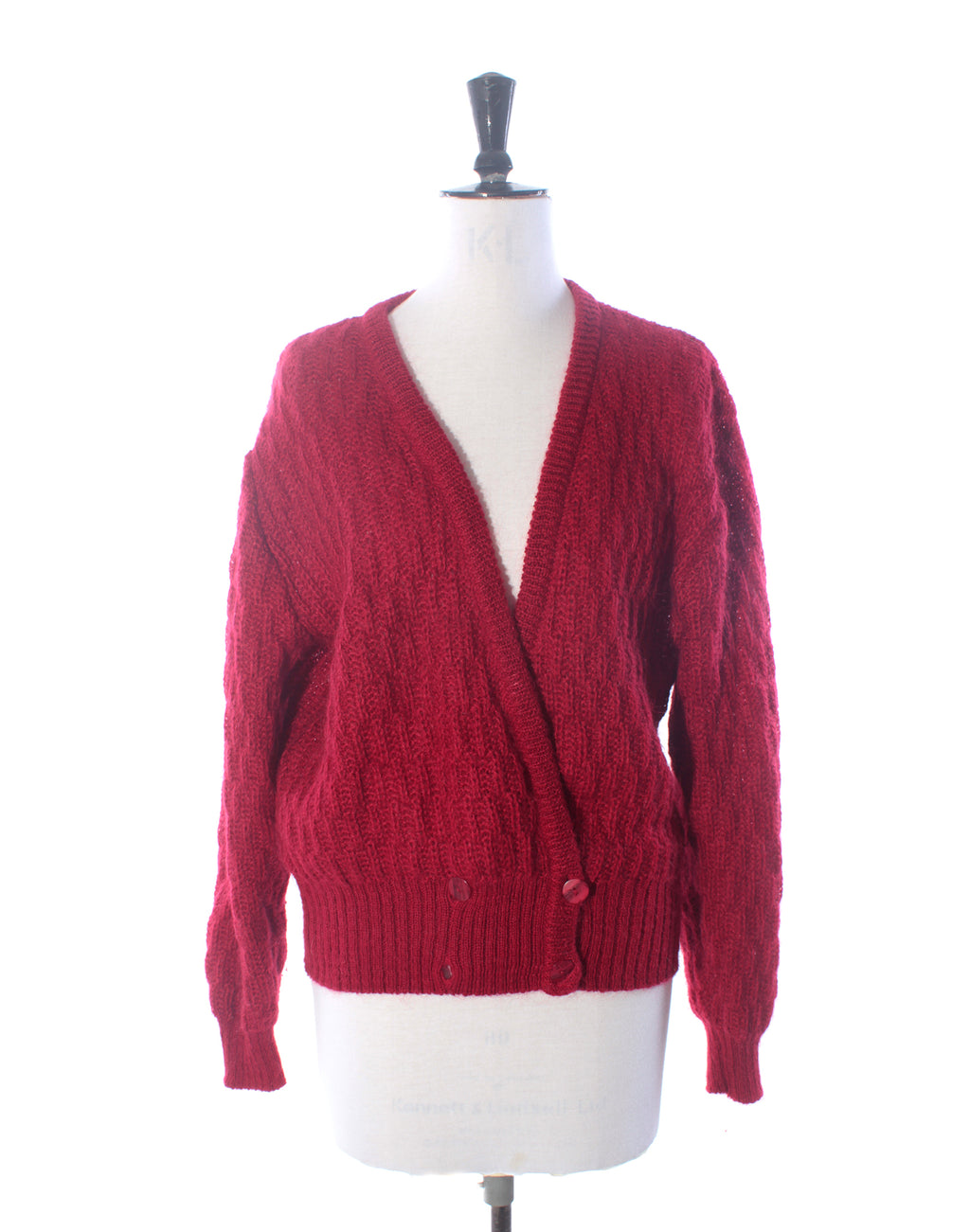 Red Mohair Cardigan