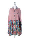 Red Check & Patchwork Cotton Collector Dress - Size XL