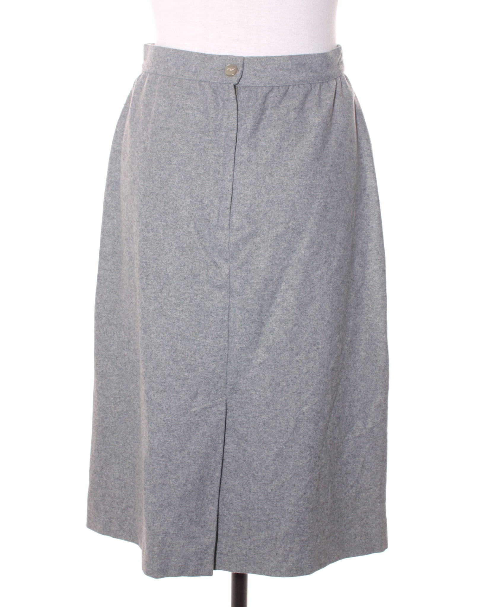 Vintage 80s Grey Wool Skirt
