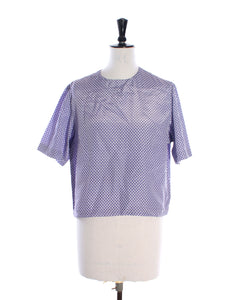 Lilac ZigZag Slouch Top
