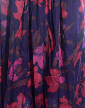 Purple Floral Vintage Skirt