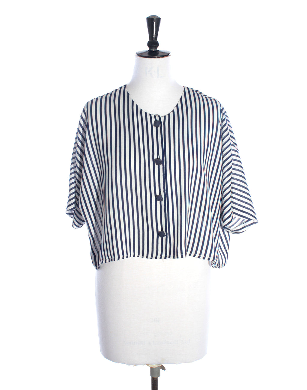 Stripe Navy Slouch Top