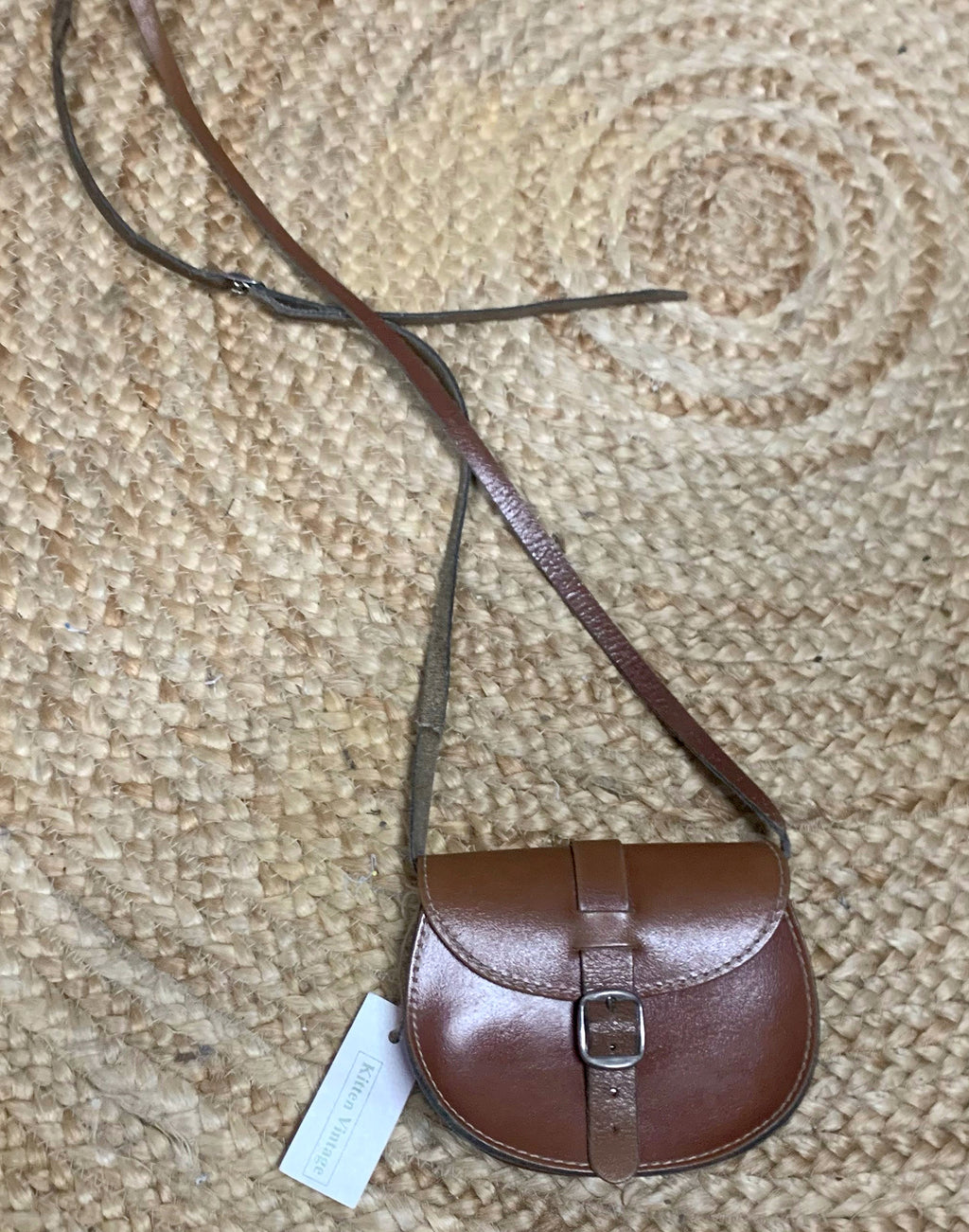 Small Brown Leather Saddle Bag