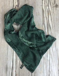 Green Velvet Long Vintage Scarf