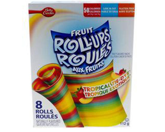 Box of 8 Tropical Tie-Dye Fruit Roll-Ups