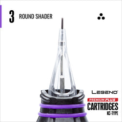 Premium Plus Round Shader Cartridge 10/box