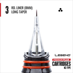 Premium Plus Round Liner Cartridge Long Taper 10/box