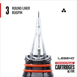 Premium Plus Bugpin Round Liner Cartridge 10/box | CAM (CANADA) SUPPLY INC.
