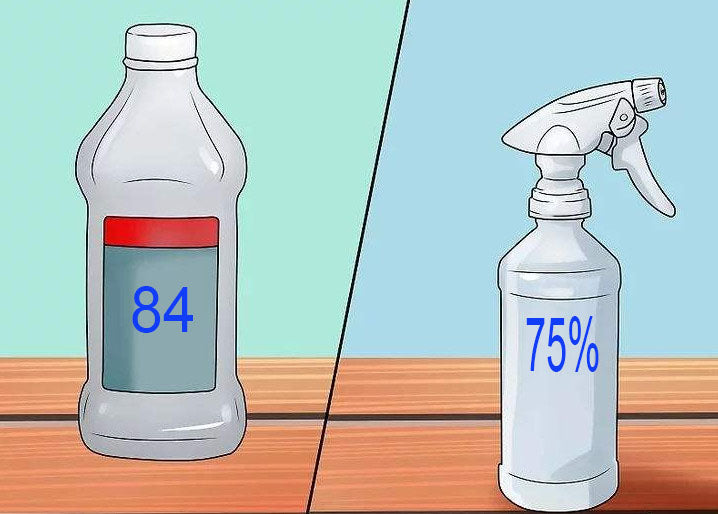 Science! How to use 75% alcohol and 84 disinfectant