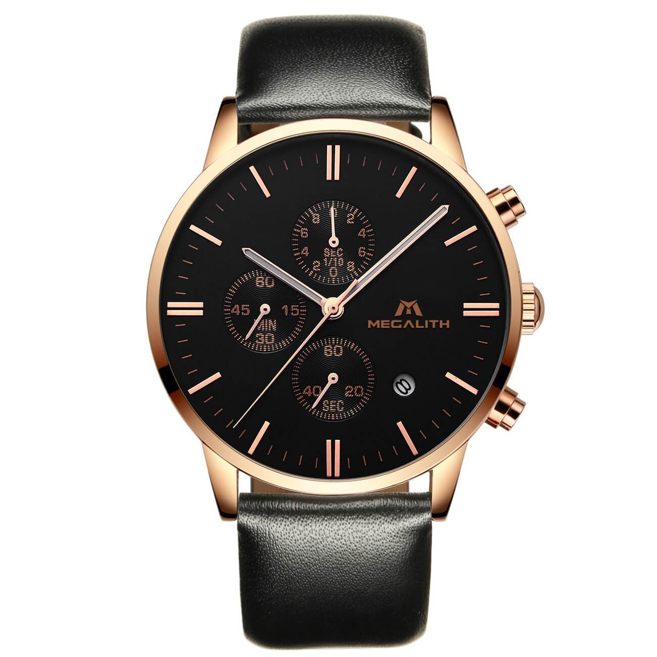 0135M | Quartz Men Watch | Leather Band