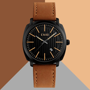 9169C | Quartz Men Watch | Leather Band