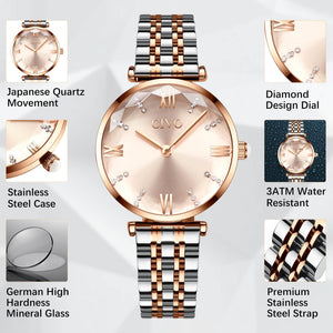 8095C | Quartz Women Watch | Stainless steel Band