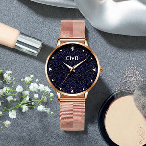 8002C | Quartz Women Watch | Mesh Band