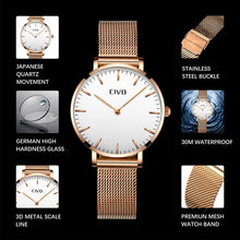 Load image into Gallery viewer, 8011C | Quartz Women Watch | Mesh Band