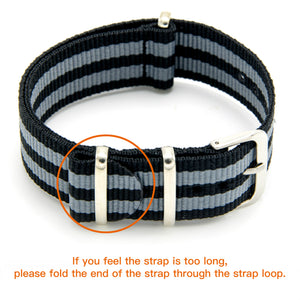 CIVO NATO Strap 4 Packs 18mm 20mm 22mm Premium Ballistic Nylon Watch Bands Zulu Style with Stainless Steel Buckle for Men Women