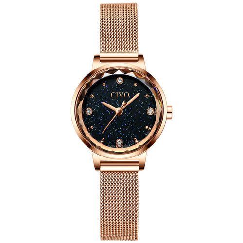 8024C | Quartz Women Watch | Mesh Band