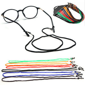 Parboo 1x Glasses Strap Neck Cord Adjustable Sunglasses Eyeglasses Rope Lanyard Holder Eyewears Cord Holder Neck Strap Rope