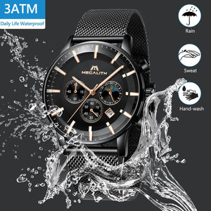 8089M | Quartz Men Watch | Mesh Band