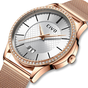 0045C | Quartz Women Watch | Mesh Band