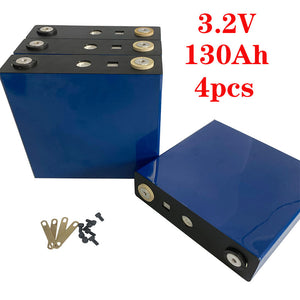 4PCS new 3.2V 130Ah  service life 3500/ times 12V130ah solar storage battery pack instead of 3.2V120Ah/150Ah