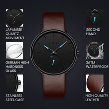 Load image into Gallery viewer, 0124C | Quartz Men Watch | Leather Band